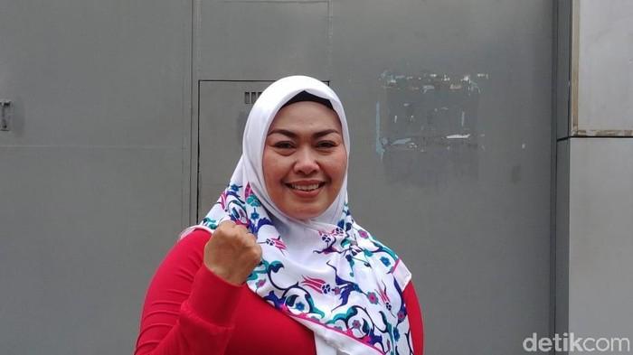 Ina Yuniarti, wanita perekam penggal Jokowi, divonis bebas. (Jefrie Nandy Satria/detikcom)