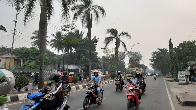 Kabut Asap Tipis Masih Selimuti Palembang dan Sekitarnya