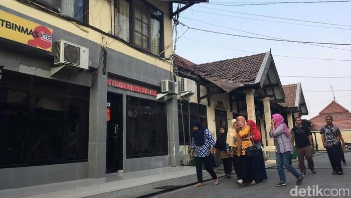Korban Investasi bodong PT RHS Group kembali melapor ke Polresta Mojokerto. (Enggran Eko Budianto/detikcom)
