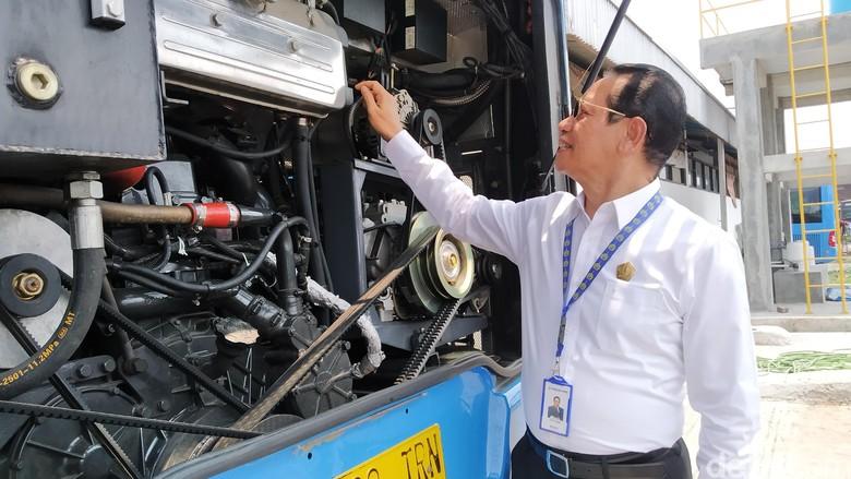 Foto: Bus TransJakarta merek Zhongtong (Wilda/detikcom)