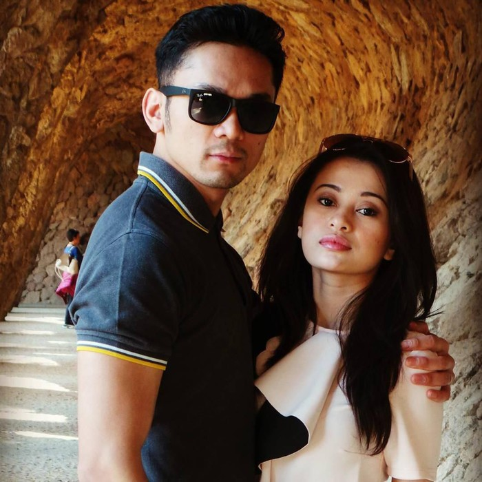 Angie Yulia dan suami, Habibi Syaaf