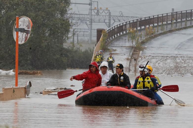 Korban Tewas Topan Hagibis di Jepang Jadi 56 Orang