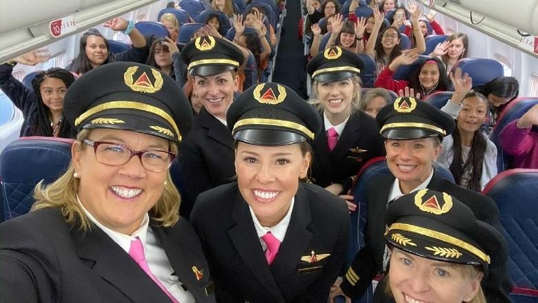 Foto: Kru penerbangan wanita Delta Airlines (Delta Airlines)