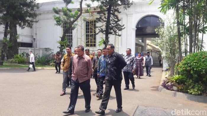 Sebanyak 14 Ketua Paguyuban di Papua menemui Presiden Jokowi di Istana, Jakarta. (Marlinda/detikcom)