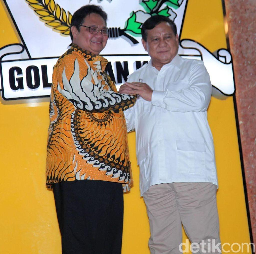 Usai Bertemu, Prabowo-Airlangga Sepakat Bentuk Tim untuk Kerja Sama