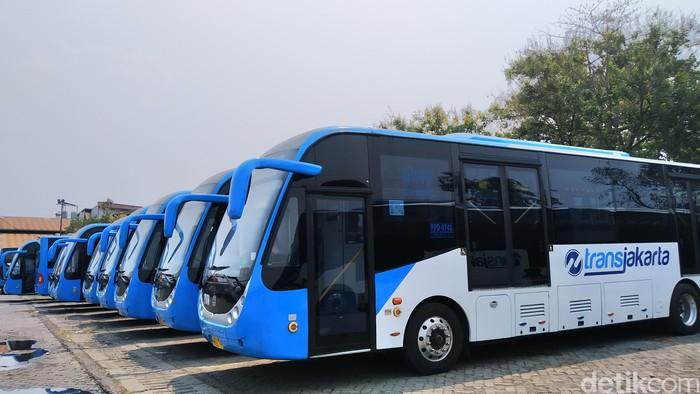 Bus TransJakarta merek Zhongtong. (Wilda/detikcom)