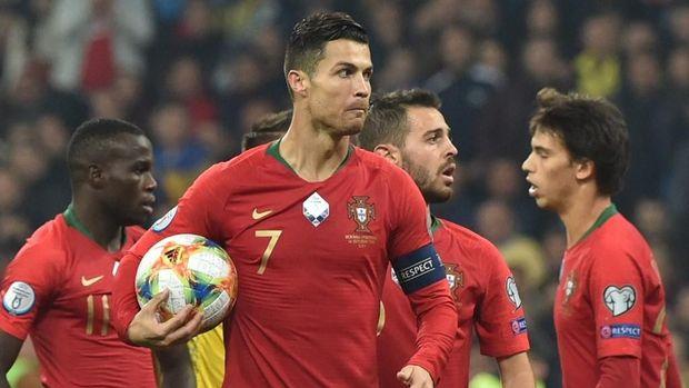 Cristiano Ronaldo mencetak 95 gol untuk timnas Portugal.