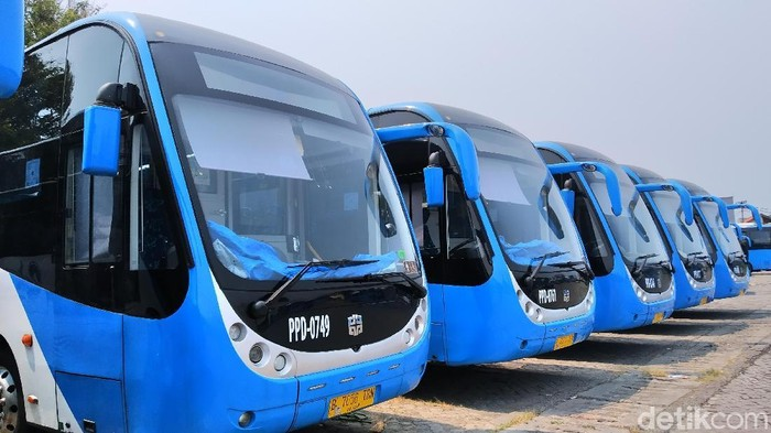 Bus TransJakarta Merek Zhongtong (Wilda/detikcom)