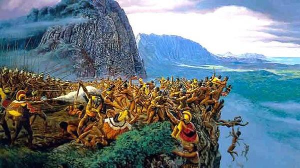 Di zaman dulu, ada banyak kerajaan di Hawaii dan saling menyerang satu sama lain. Saat itu, para ketua adat seolah mendapat pesan dari leluhur dan dewa bakal ada seorang anak yang menyatukan seluruh Hawaii (Montgomery College)