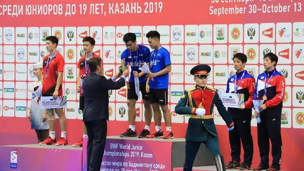 Dukungan WNI di Rusia untuk tim bulu tangkis Indonesia