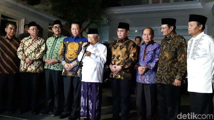 Pimpinan MPR bertemu Wapres terpilih Maruf Amin/Foto: Tsarina Maharani-detikcom