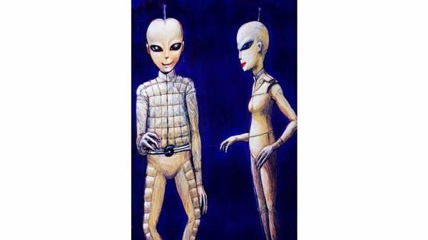 Pengikut Wassana menggambarkan alien bertubuh ramping, kecil dan berwarna keperakan. Seperti manusia, alien ini punya dua kaki dan dua tangan. (CNN Travel)