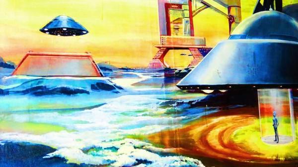 Konsep seorang seniman tentang kehidupan alien. Menurut Wassana, satu kelompok alien dari Planet Pluto, dan yang lainnya dari Planet Loku.(CNN Travel)