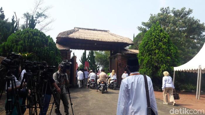 Suasana di lokasi Rapimnas Gerindra di Hambalang (Marlinda Oktavia Erwanti/detikcom)