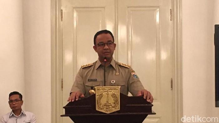 Jumpa pers Anies tentang 2 tahun kepemimpinan di DKI Jakarta (Arief/detikcom)