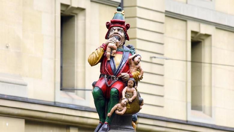Patung Raksasa Pelahap Anak-anak, Kindlifresser. (Foto: Bumblee_Dee/iStock)