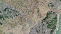 Begini penampakan foto satelit yang diambil pascaditerjang Topan Hagibis pada Minggu (13/10).