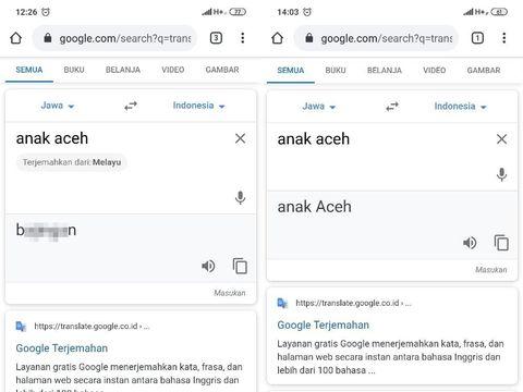 Warga Aceh Protes Terjemahan Rasis di Google Translate