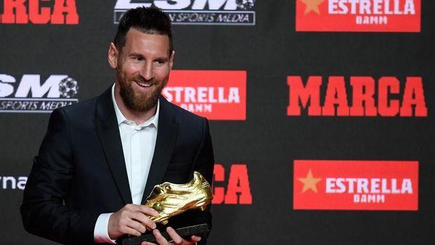 Lionel Messi mendapat Sepatu Emas dalam tiga musim terakhir.