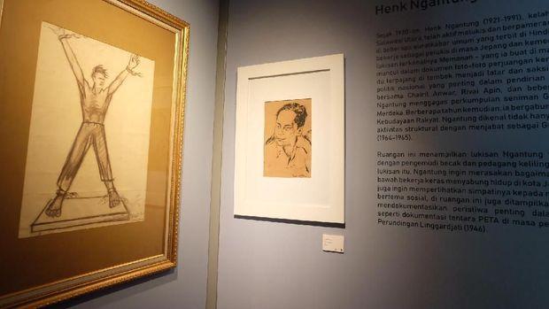 Ada Sketsa Patung 'Pembebasan Irian Barat' di Museum Seni Rupa dan Keramik