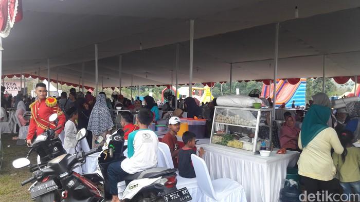 Pesta rakyat di Rapimnas Gerindra (Foto: Marlinda Oktavia Erwanti/detikcom)