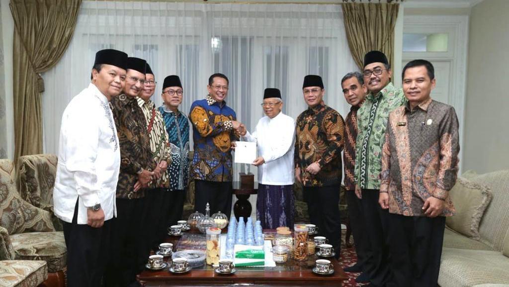 Maruf Amin Apresiasi Pimpinan MPR