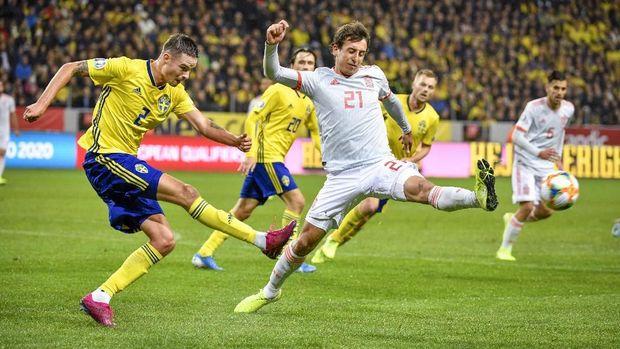 Spanyol tertinggal lebih dahulu oleh Swedia.