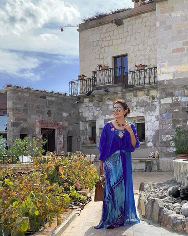 I'm lost in Cappadocia tulis Mayangsari dalam caption foto Instagramnya. (mayangsaritrihatmodjoreal/Instagram)