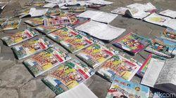 Atap Kelas Disapu Puting Beliung dan Hujan, Ratusan Buku TK Ini Basah