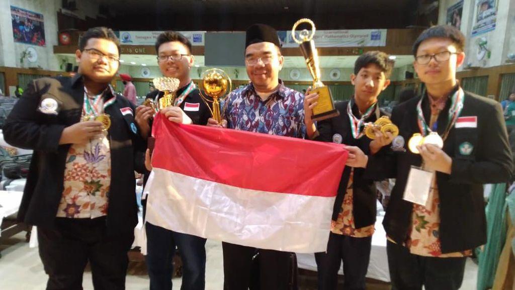 Bangga! Tim SMP Indonesia Juara Umum Lomba Matematika di India