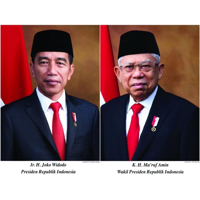Foto resmi Jokowi-Maruf sebagai presiden dan wakil presiden. (Foto: dok. Setneg)