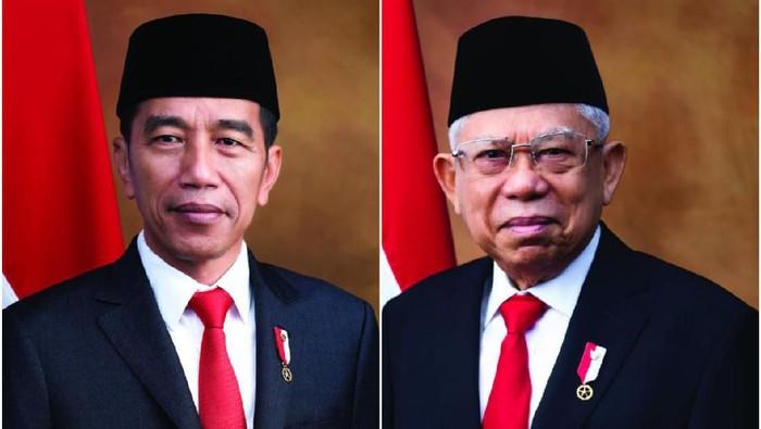Foto resmi Jokowi-Maruf sebagai presiden dan wakil presiden (Foto: dok. Setneg)