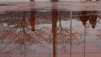 Mewakili paradigma, Halid Adali, 17 tahun, memanfaatkan refleksi setelah hujan di Izmir. Istimewa/UNICEF/Adali.