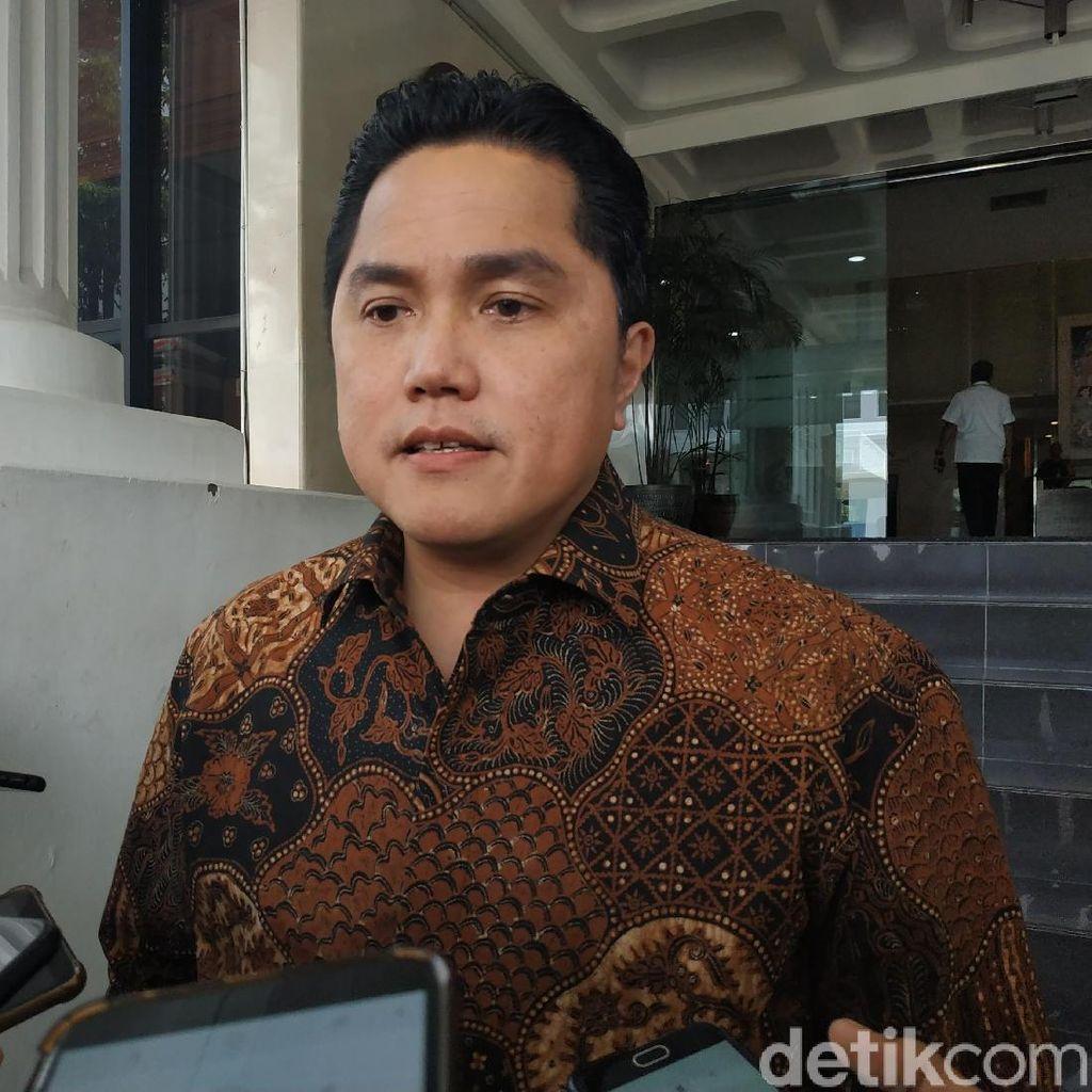 Erick Thohir Bicara Menteri Bekeringat, PSI-Perindo Serahkan ke Jokowi