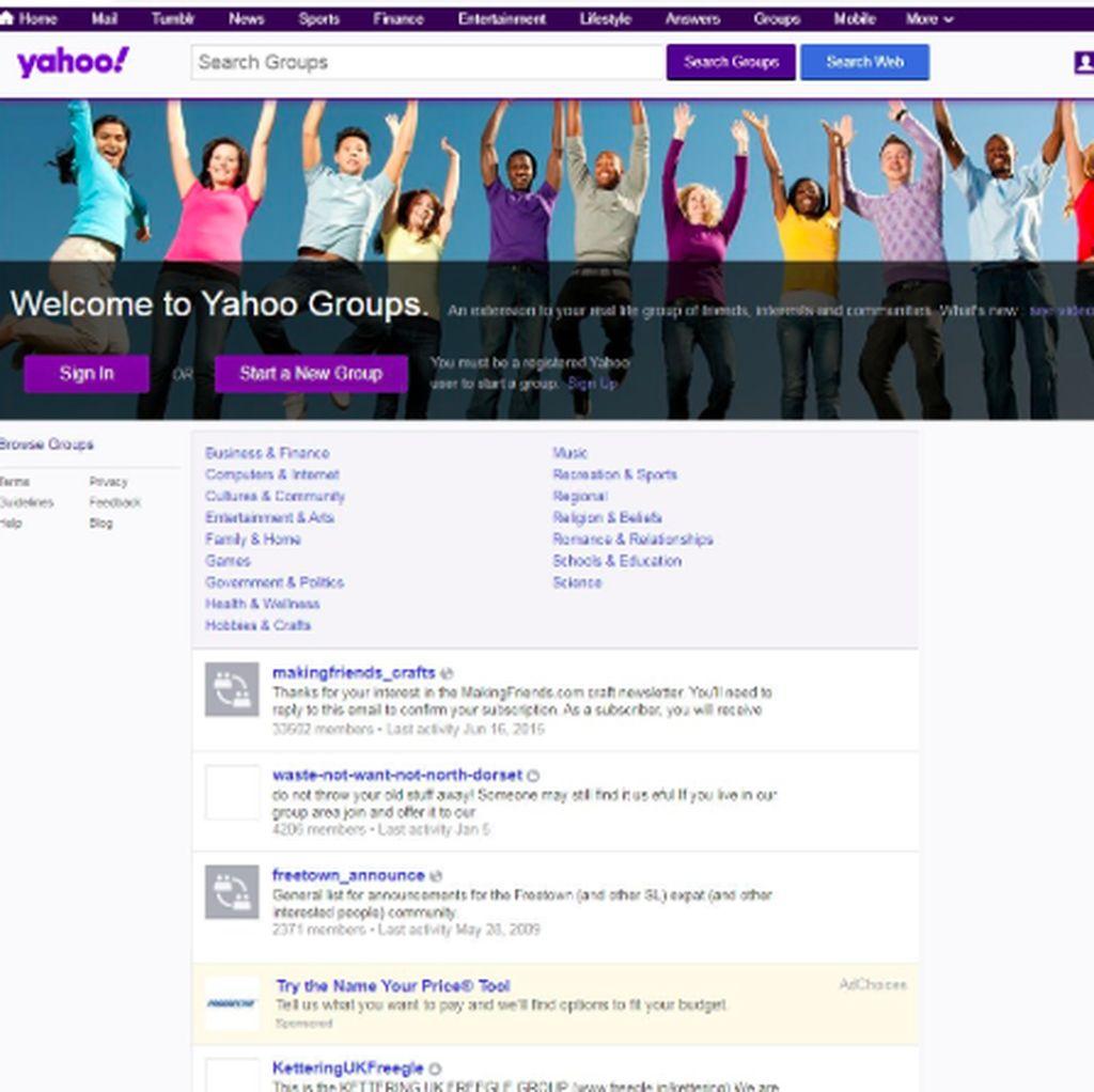 Yahoo Groups Mau Tutup, Semua Konten Dihapus