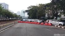 Jalan Gatsu Menuju DPR Ditutup hingga Pelantikan Presiden 20 Oktober