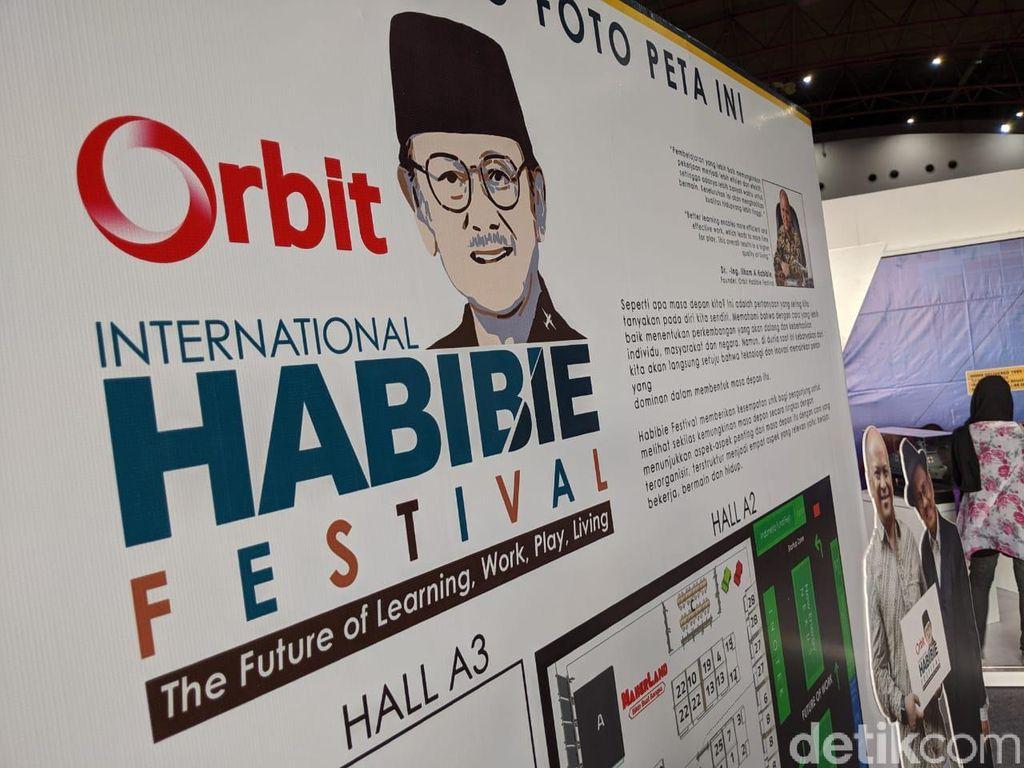 Orbit Habibie Festivel diselenggarakan di JIExpo, Kemayoran, Jakarta selama 17-19 Oktober 2019. (Foto: detikINET/Agus Tri Haryanto)