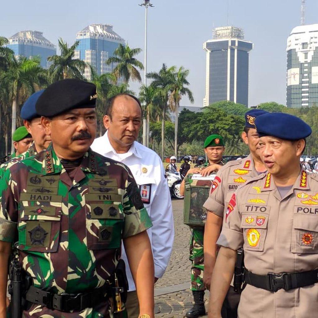 Jelang Pelantikan Presiden, Panglima TNI-Kapolri Gelar Apel Keamanan