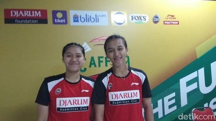 Febriana/Indah Cahya langsung tampil di Superliga Junior sepulang dari Kejuaraan Dunia (Eko Susanto/detikSport)