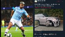 Penampakan Mobil Sergio Aguero yang Ringsek Usai Kecelakaan