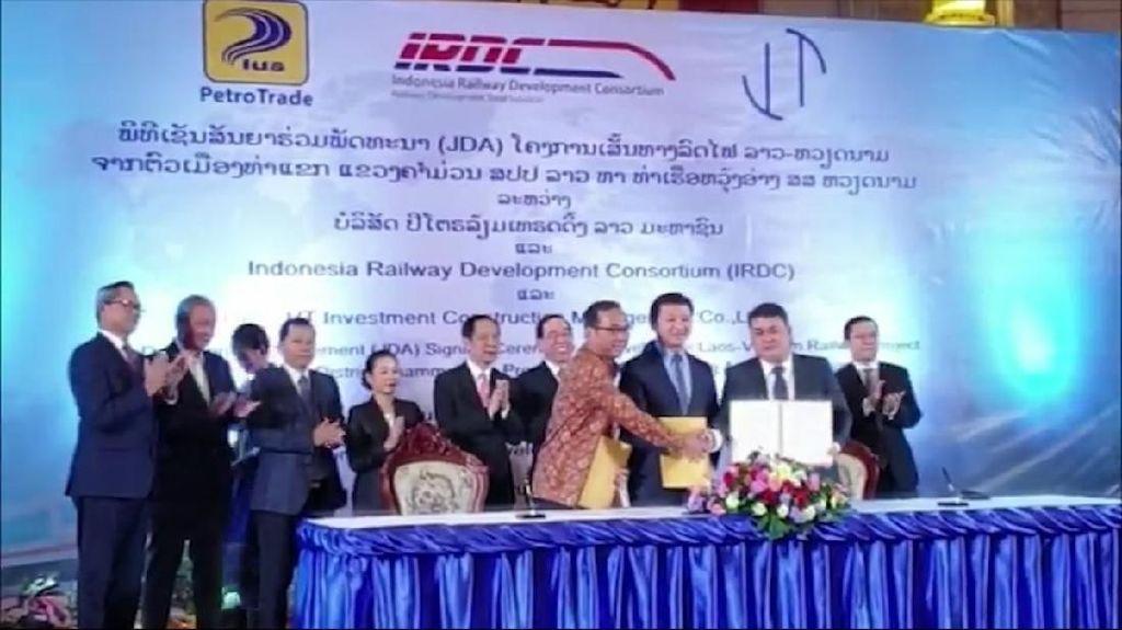 Indonesia Garap Proyek Jalur Kereta Api Laos-Vietnam Rp 28 T