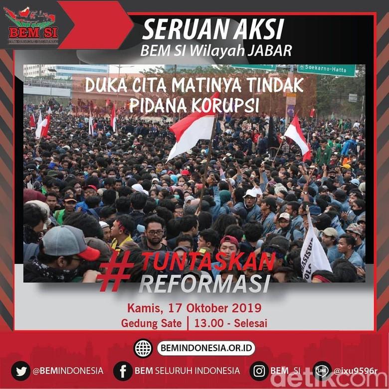 Siang Ini, Mahasiswa di Jawa Barat Demonstrasi di Gedung Sate
