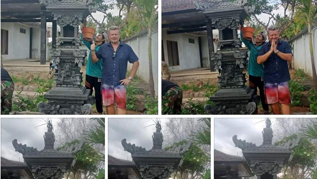 Viral Bule Rusak Pelinggih Pakai Kaki di Bali, Ini Cerita di Baliknya