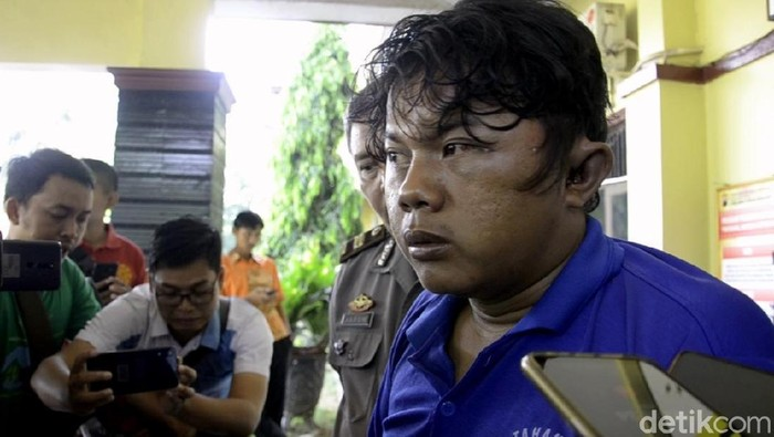 Jumari, pemerkosa dan pembunuh perempuan difabel di Pekalongan. Foto: Robby Bernardi/detikcom