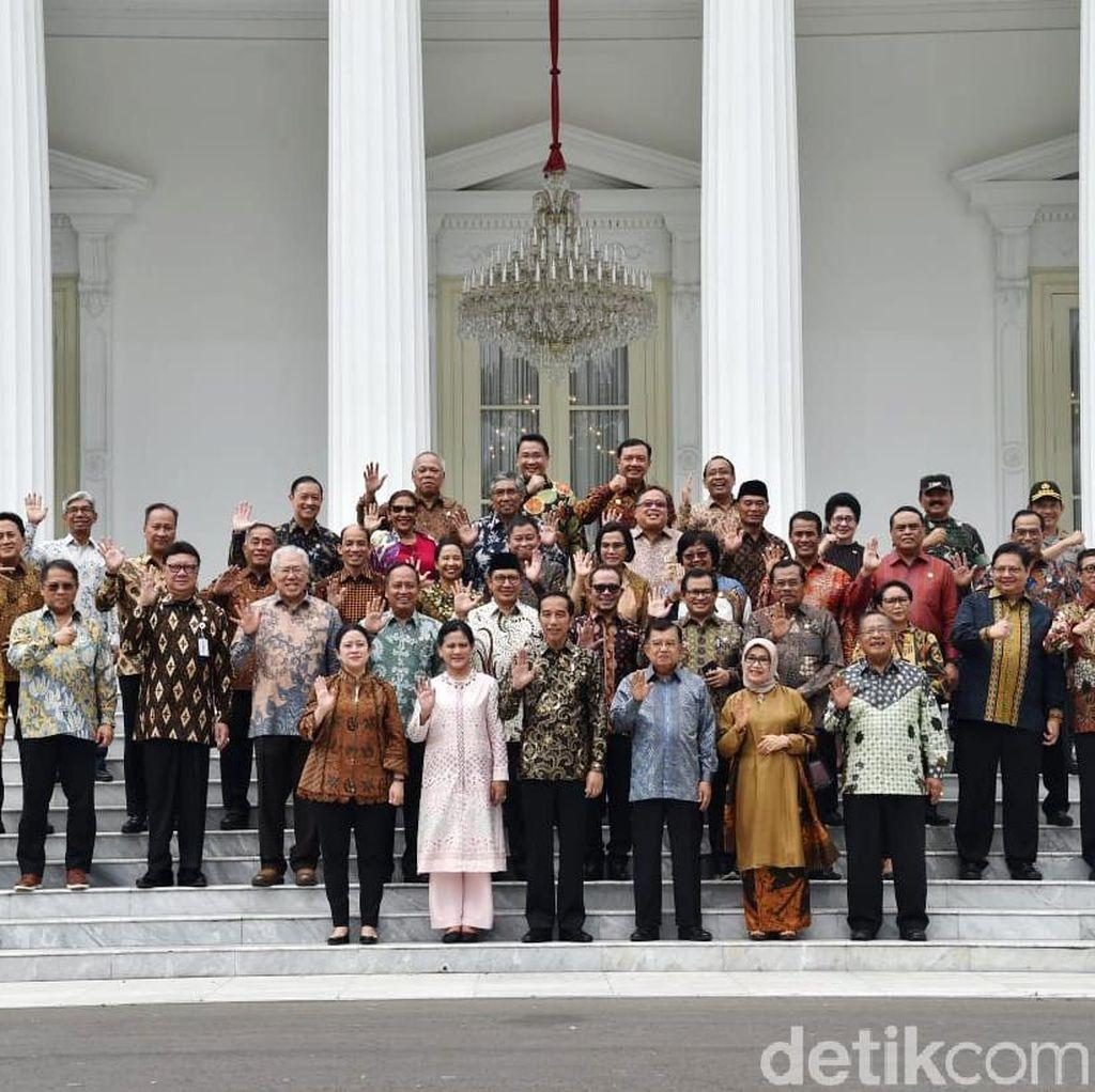 Menteri Kabinet Kerja Hadiri Pelantikan Jokowi-Maruf Amin