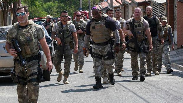 Polisi Brasil dikerahkan untuk melumpuhkan para perampok bersenjata