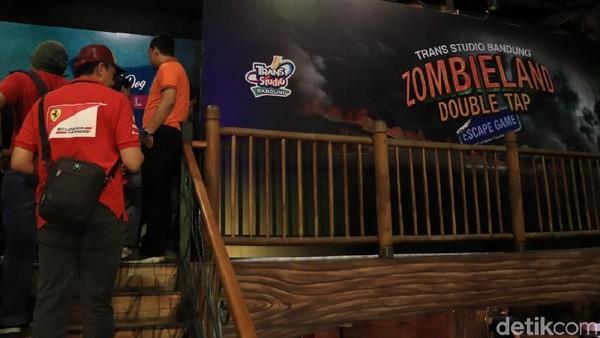 Wahana Zombieland Double Tap Escape Games menghadirkan tiga ruangan berbeda, seperti White House, Hotel Hound Dog Memphis, dan Babylon. (Rico Bagus/detikcom)