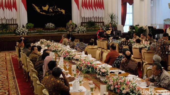 Silaturahmi Jokowi dan Kabinet Kerja jilid I. (Adhika Prasetia/detikcom)