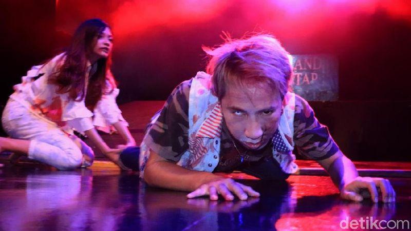 Menyambut datangnya Halloween akhir Oktober mendatang, Trans Studio Bandung bekerja sama dengan Sony Pictures menyajikan wahana khusus bernama Zombieland Double Tap Escape Games. (Rico Bagus/detikcom)