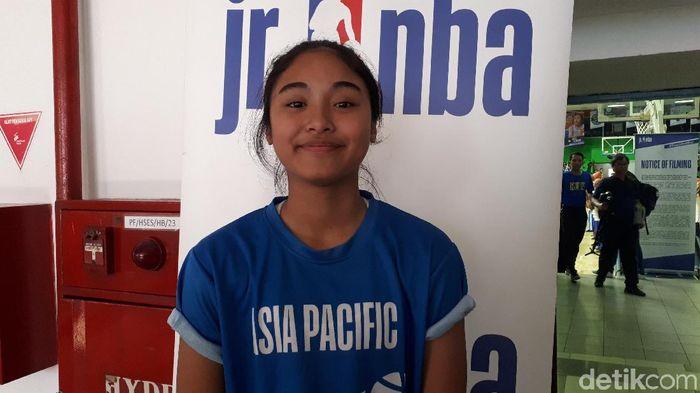 Vanissa Renata Siregar berkisah pengalamannya di Jr NBA Gl(Mercy Robal Championship. aya/detikSport)